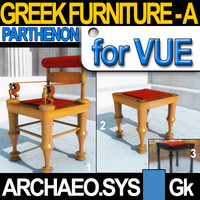 3d model of seats parthenon greek