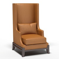 baker wing chair 3d model