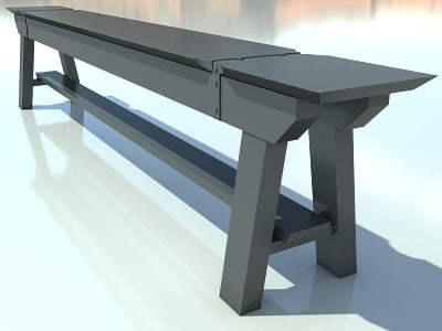 bench max2010 3d 3ds