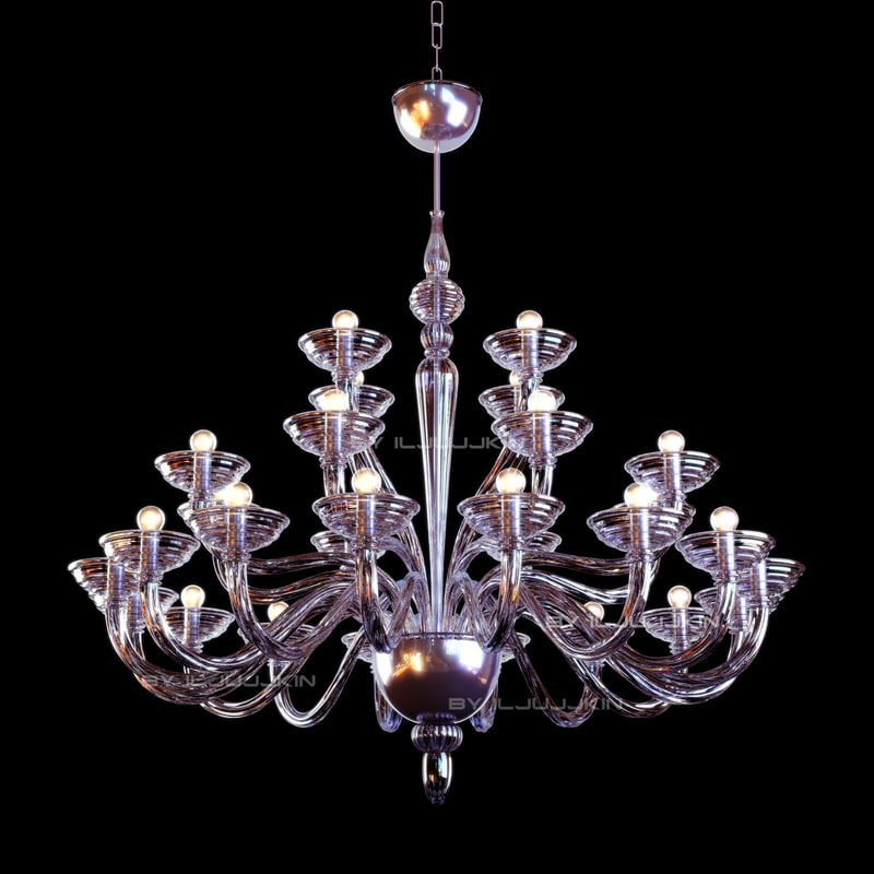 chandelier murano glass 3d max