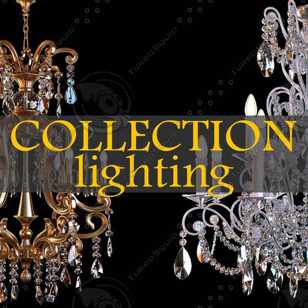 lighting lamps chandelier 3d model