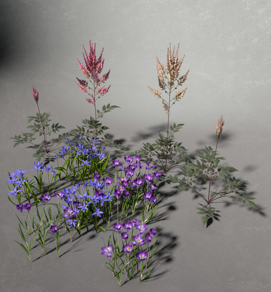 flower decorate springtime obj