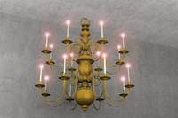 3d general lighting hanging chandelier model