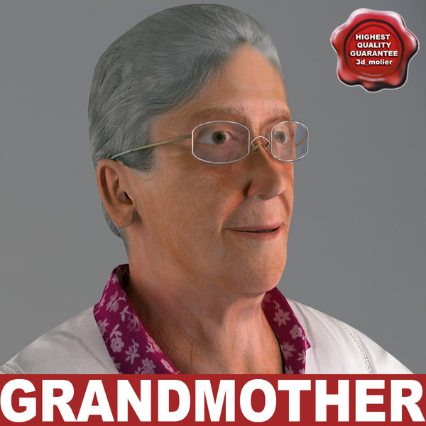 grandmother v4 t-pose 3d model