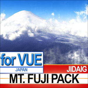 package mt fuji 3d model