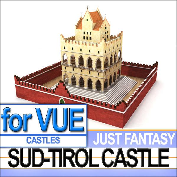 3d castle fantasy