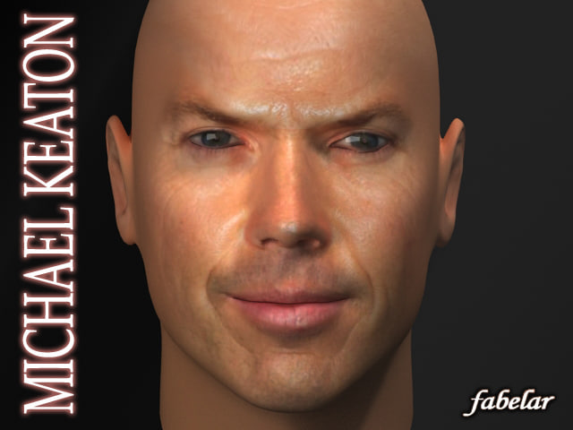 head michael keaton 3d model