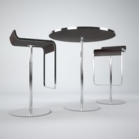 p3d LEM barstool table set