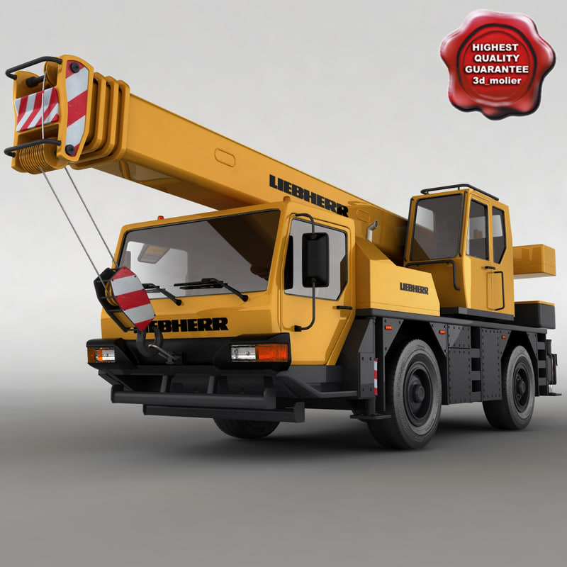 mobile crane liebherr ltm 3d model