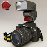 Nikon D60 and Sunpak PZ40X