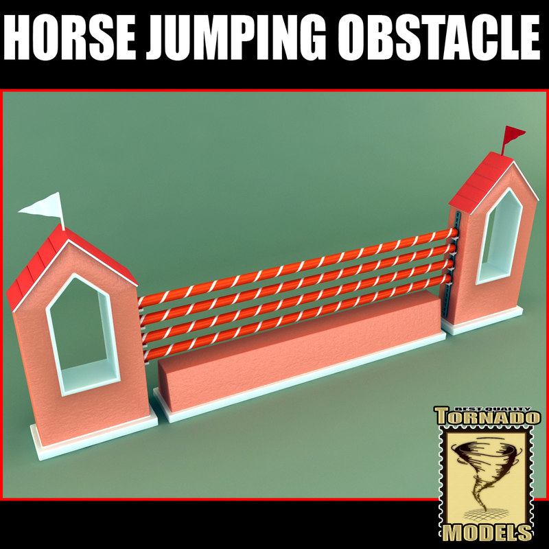 obj horse jumping obstacle