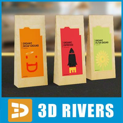 coffee pack food 3d model