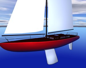 3d boat sailboat model