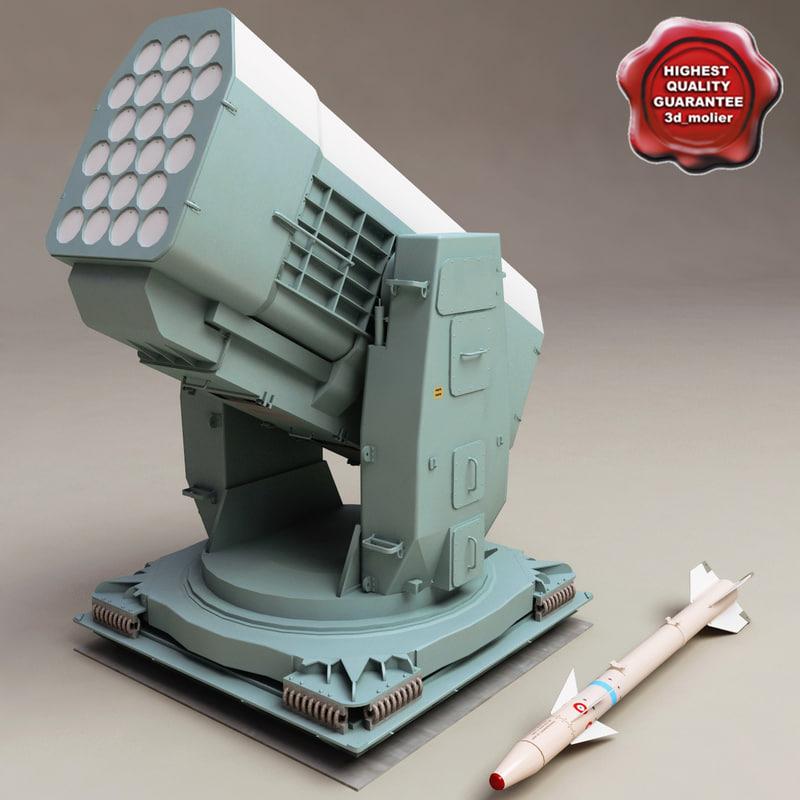 3d model rim-116 rolling airframe missile