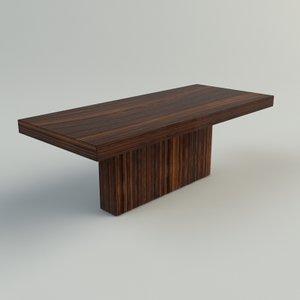 rosewood table: materials 3d max