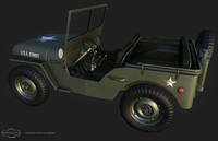 3d model jeep willys
