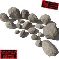 3ds lot rocks stones -
