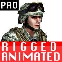 free fbx model soldier military character rigged