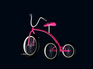 tricycle 3d max