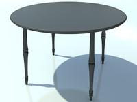 Table Small Round No Mat 2 - 3D Small Wooden Table model - Made in 3ds max2010
