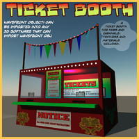 ticket booth 3d obj