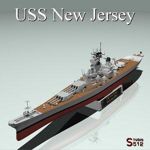 uss new jersey battleships 3d dxf