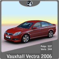 2006 vauxhall opel vectra 3d model