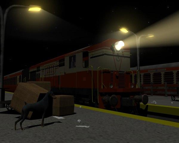 wdm2 locomotive 3d model
