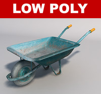 3d model wheelbarrow games simulation