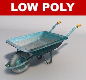 3d model wheelbarrow games simulation
