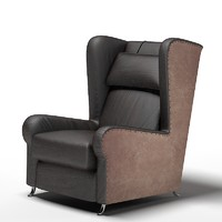 3d baxter wing chair model