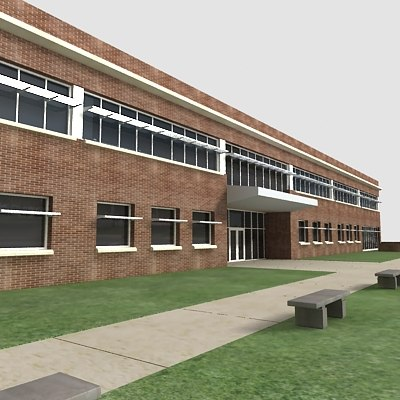 3d green building corporate office model