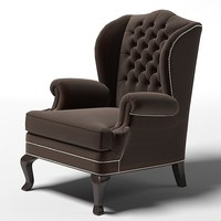 Marie`s Corner Plymouth classic classical tufted wing wingback chair