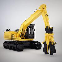 3dsmax demolish excavator