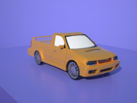 free skoda felicia pickup 3d model