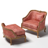 3d henredon upholstered chair
