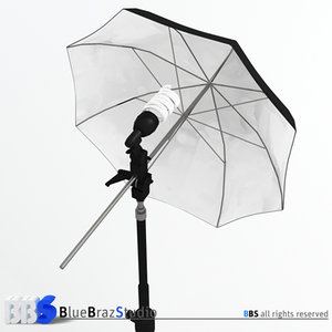 light umbrella 3d obj