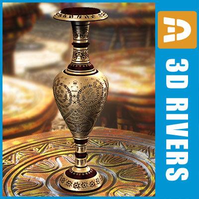 indian vase india 3d model