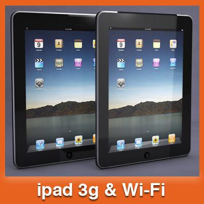 apple ipad tablet pc 3d 3ds