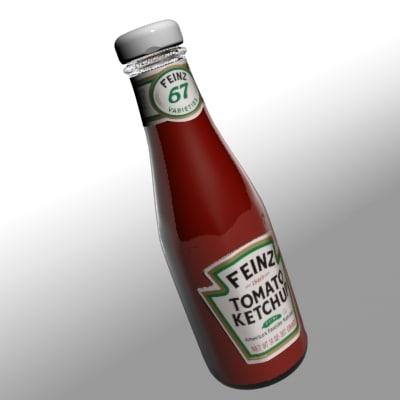 ketchup bottle 3d model
