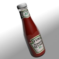 ketchup bottle 3d model