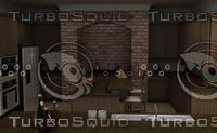 kitchen interiors 3d 3ds