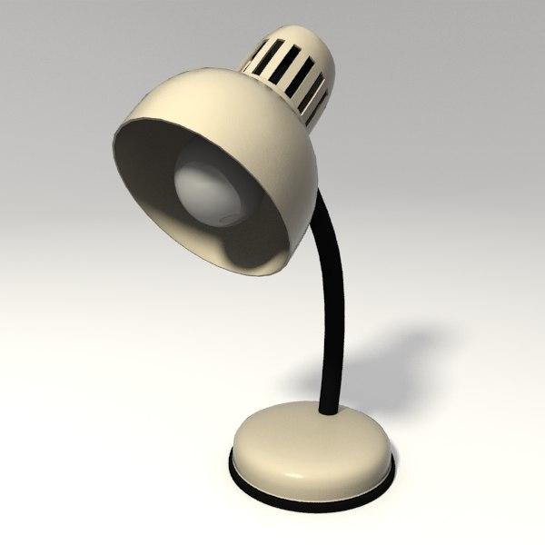obj desk lamp