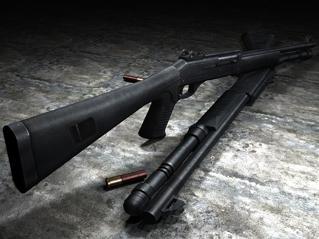 benelli xm1014 3d model