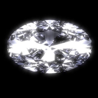 diamond oval brilliant cut 3d model