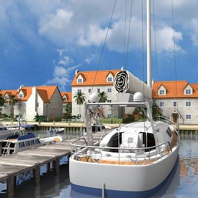 3d model seaside port