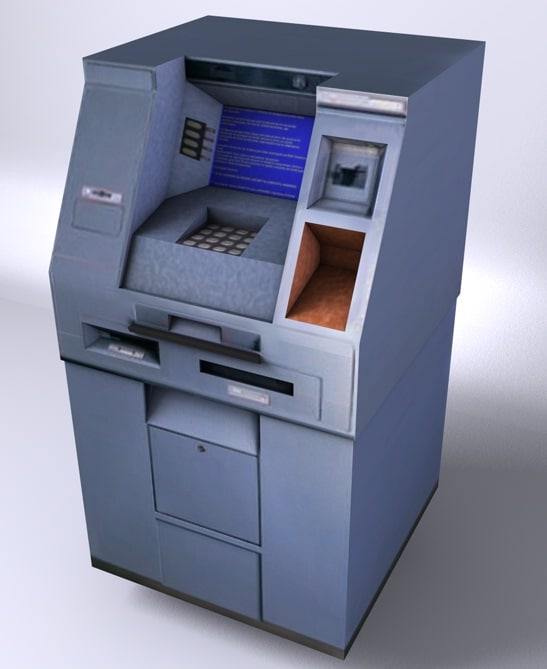caixa eletronico 3d model