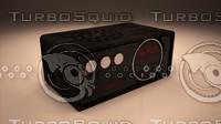 retro radio modern 3d model