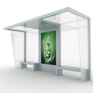 3d model bus shelter
