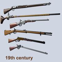 3d max rifles 19th century